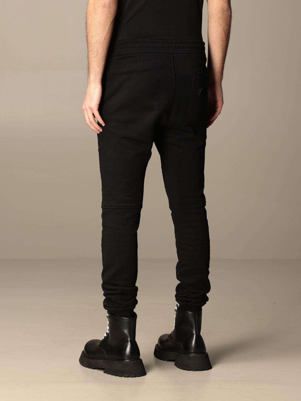 Trousers Balmain: Balmain cotton jogging trousers black 3