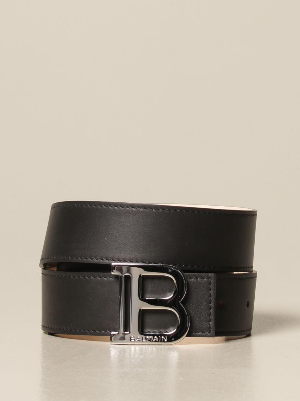 Belt Balmain: B Balmain leather belt black 1