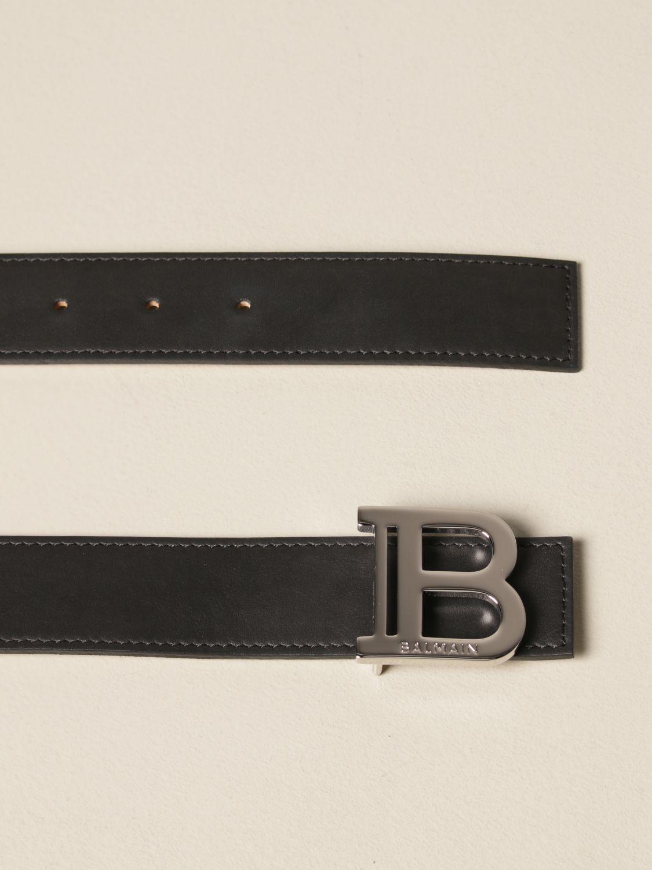 Belt Balmain: B Balmain leather belt black 2