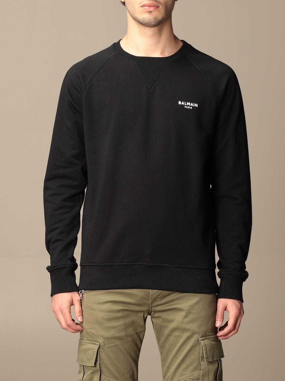 Sweatshirt Balmain: Balmain cotton sweatshirt with logo black 1