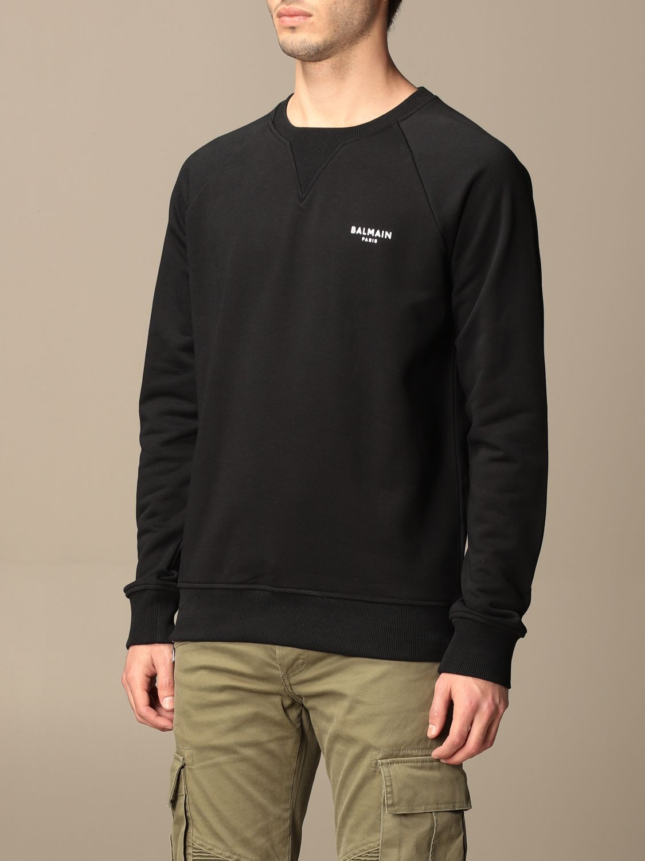 Sweatshirt Balmain: Balmain cotton sweatshirt with logo black 4
