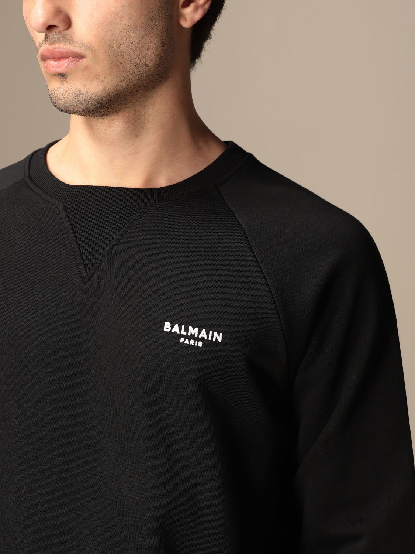 Sweatshirt Balmain: Balmain cotton sweatshirt with logo black 5