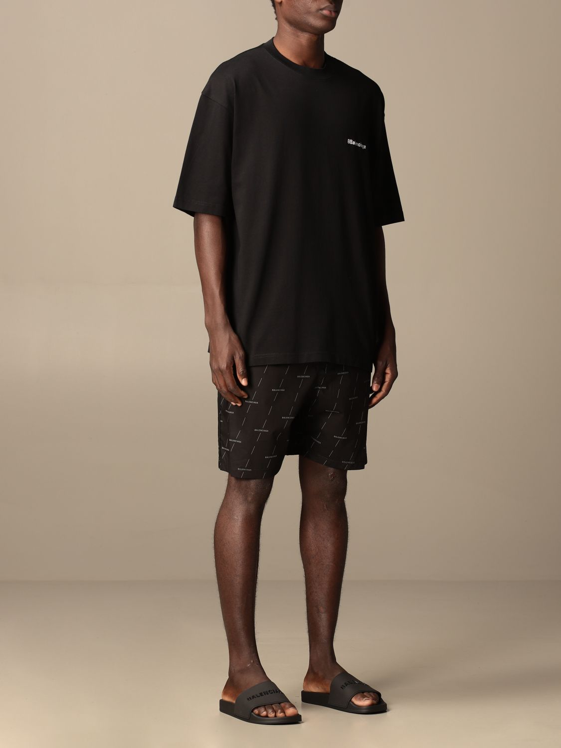 Short Balenciaga: Balenciaga jogging shorts in technical fabric black 2