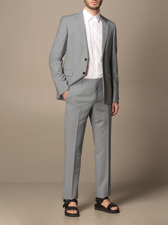 Camicia Prada: Camicia Prada in popeline di cotone con logo bianco 2
