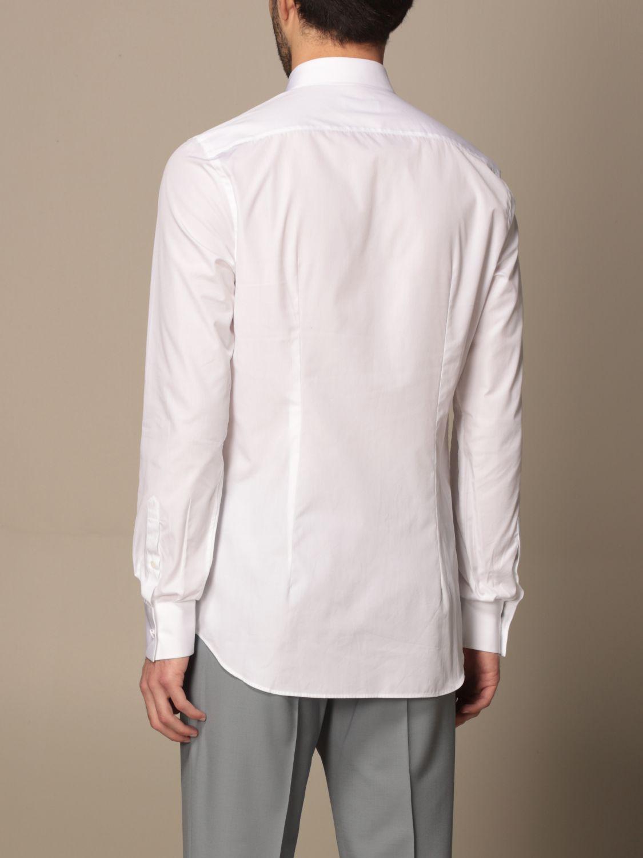Camicia Prada: Camicia Prada in popeline di cotone con logo bianco 3