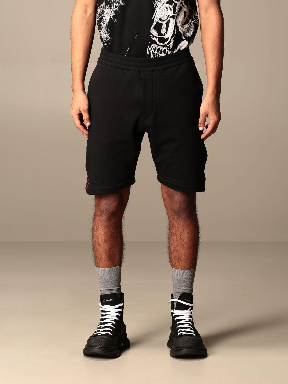 Short Alexander Mcqueen: Alexander McQueen jogging shorts with logoed bands black 1