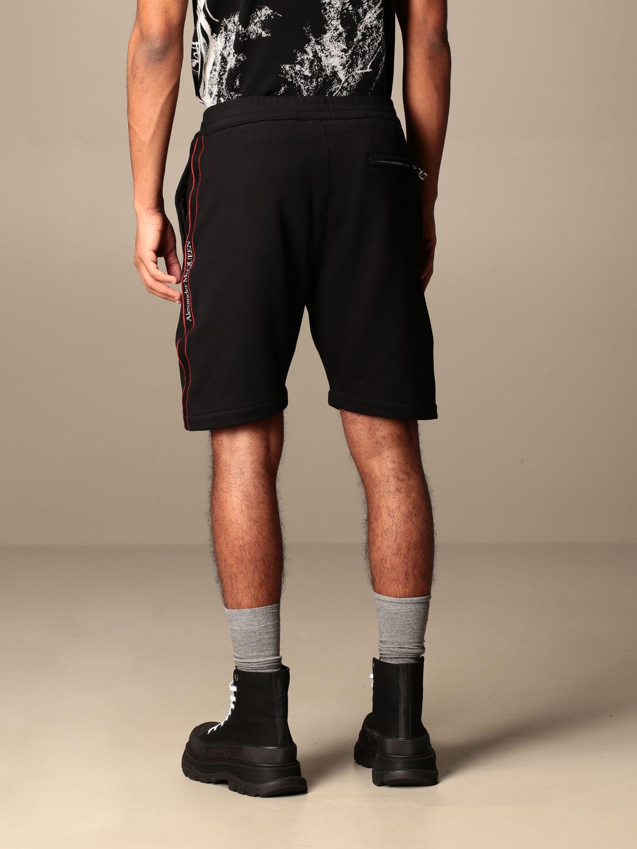 Short Alexander Mcqueen: Alexander McQueen jogging shorts with logoed bands black 3