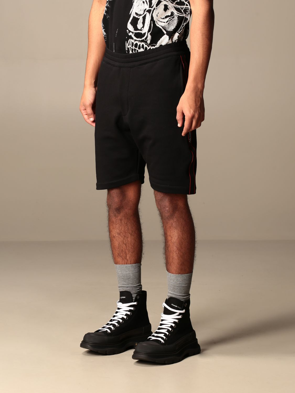 Short Alexander Mcqueen: Alexander McQueen jogging shorts with logoed bands black 4