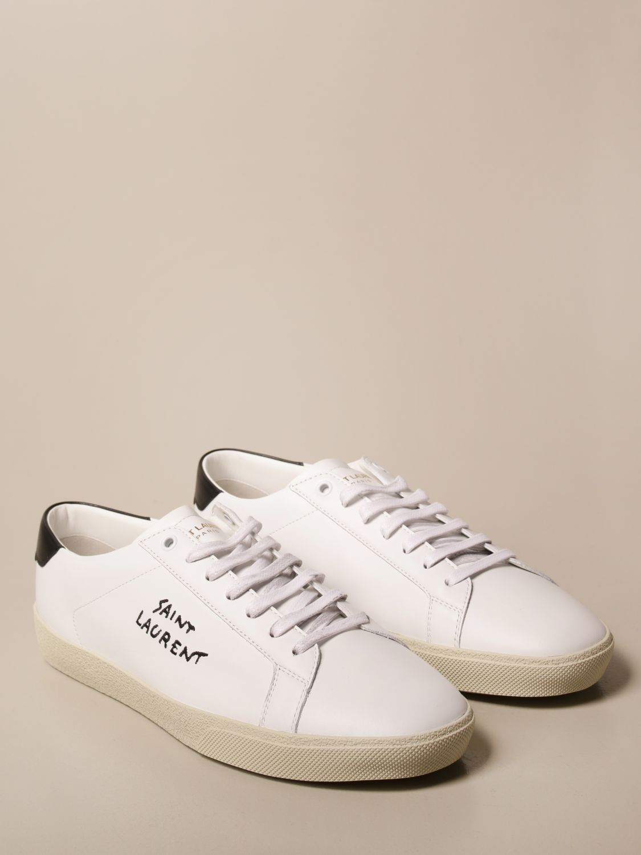 Sneakers Saint Laurent: Sneakers Court Saint Laurent in pelle bianco 2