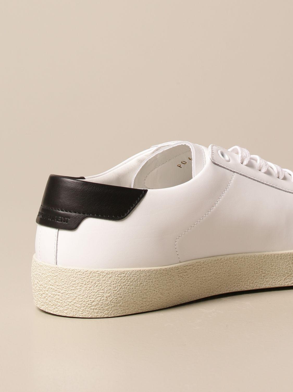 Sneakers Saint Laurent: Sneakers Court Saint Laurent in pelle bianco 3