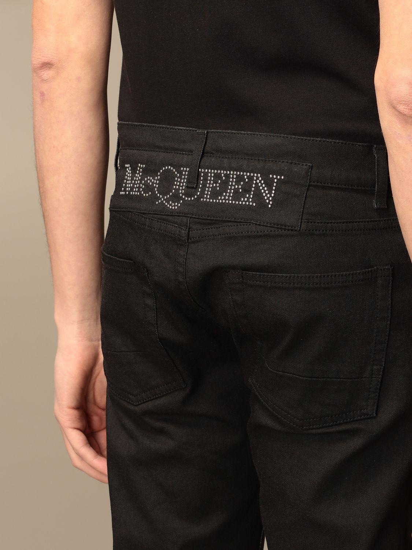 Jeans Alexander Mcqueen: Jeans homme Alexander Mcqueen noir 4