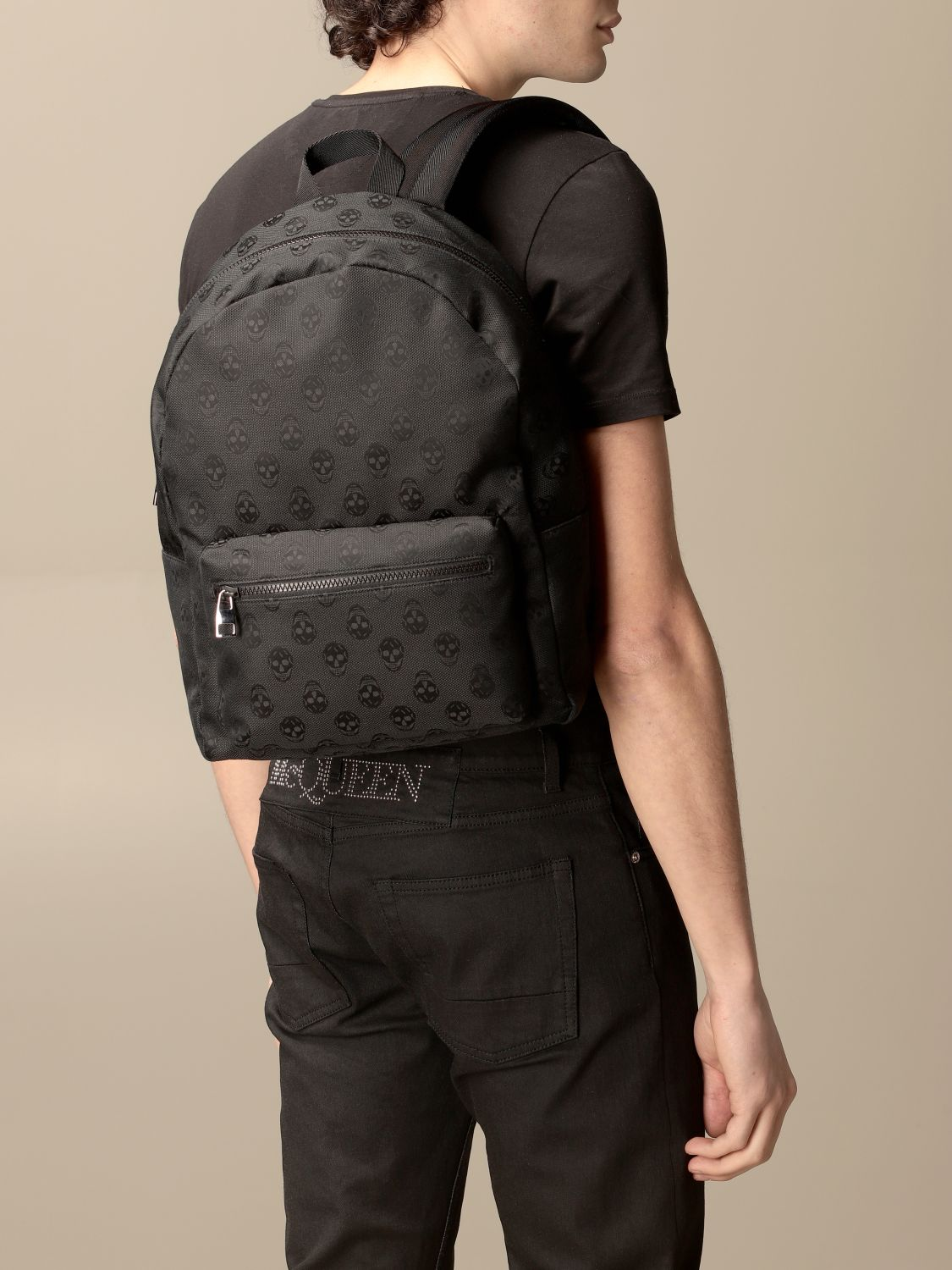 Backpack Alexander Mcqueen: Backpack men Alexander Mcqueen black 2