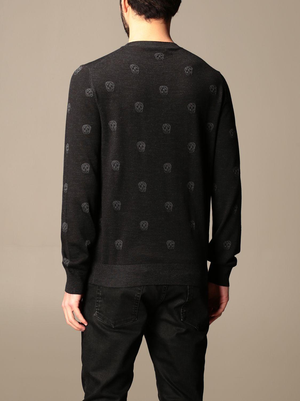 Jumper Alexander Mcqueen: Alexander McQueen crew neck sweater with skulls black 3
