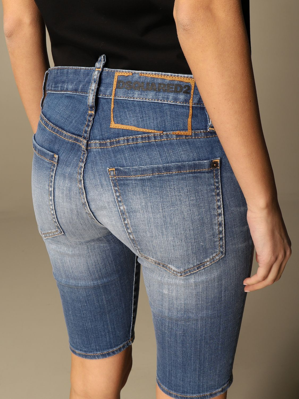 Pantalones Cortos Mujer Dsquared2 Pantalones Cortos Dsquared2 Mujer Azul Oscuro Pantalones Cortos Dsquared2 S75mu0363 S30342 Giglio Es