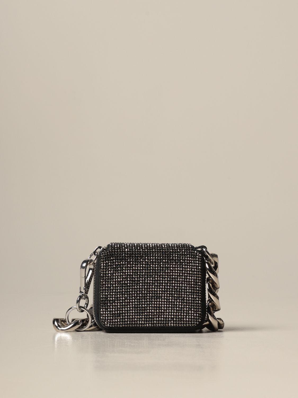 Portafoglio Kara: Portafoglio a tracolla Kara con maxi catena grigio 1