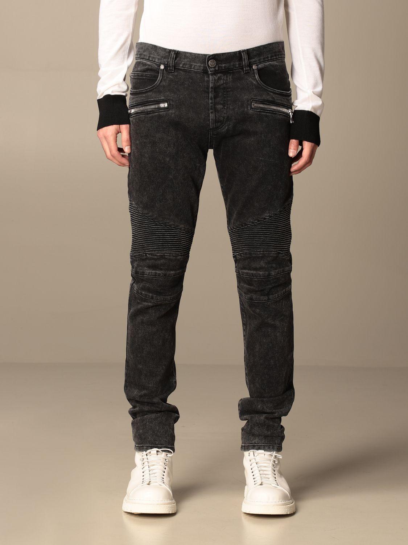 Jeans Balmain: Balmain jeans in denim with zip black 1