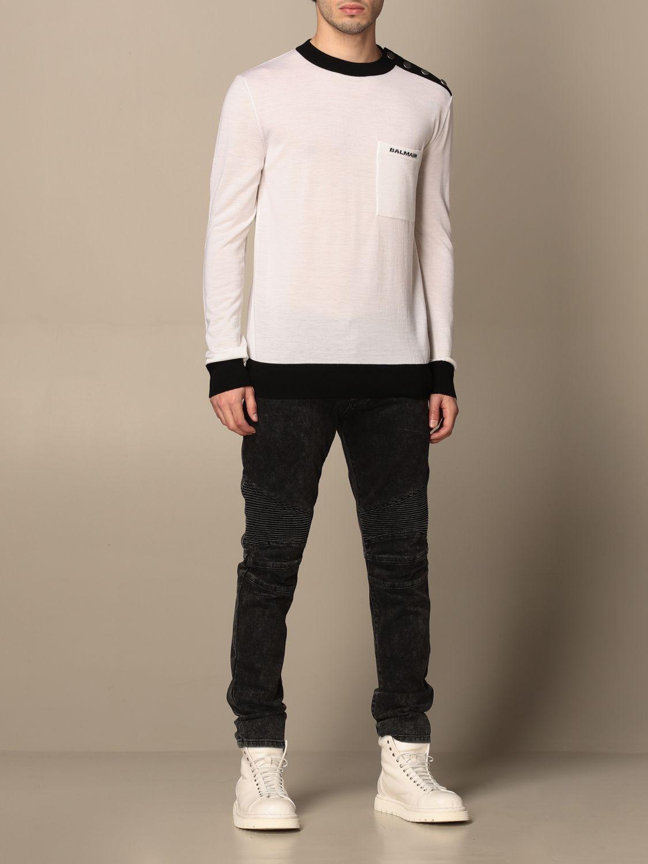 Jeans Balmain: Balmain jeans in denim with zip black 2