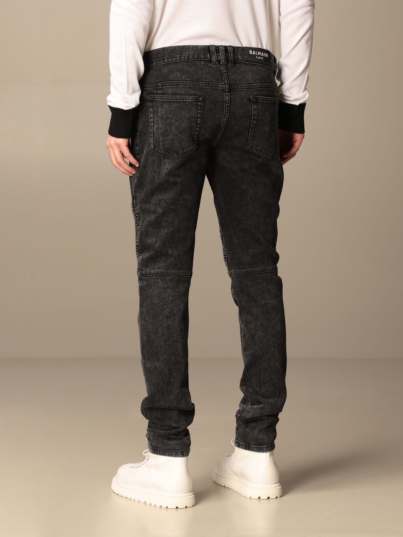 Jeans Balmain: Balmain jeans in denim with zip black 3