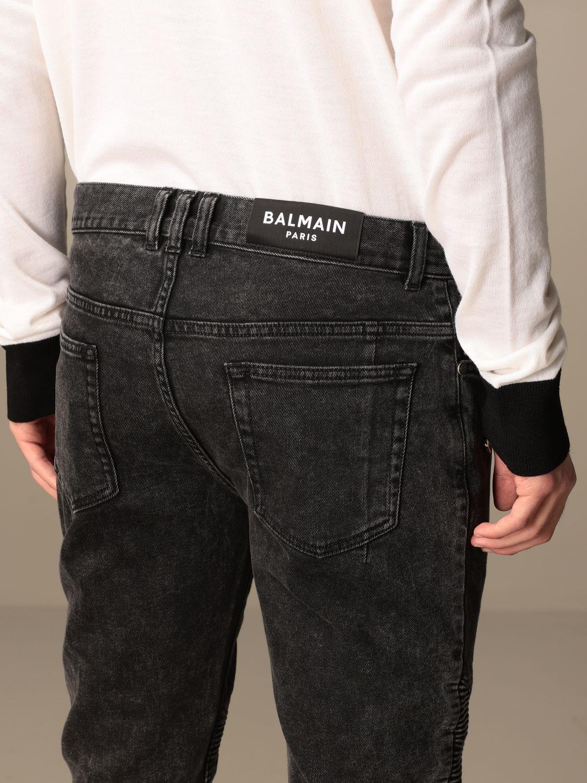 Jeans Balmain: Balmain jeans in denim with zip black 5