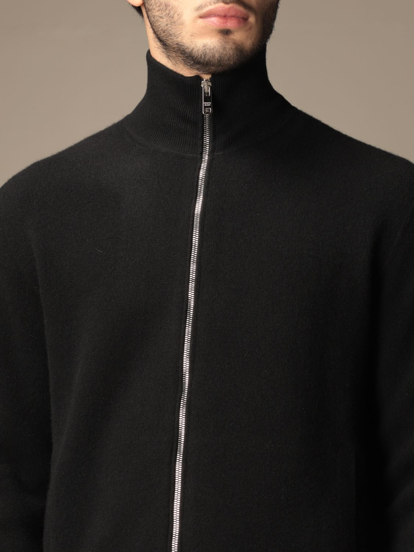 Cardigan Prada: Cardigan con zip Prada con logo triangolare nero 5