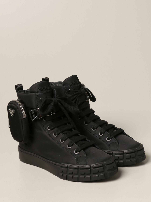 Sneakers Prada: Sneakers a polacco Prada in gabardine Re-Nylon nero 2