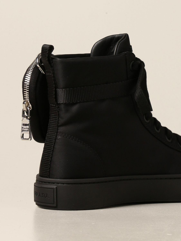 Sneakers Prada: Sneakers a polacco Prada in gabardine Re-Nylon nero 3