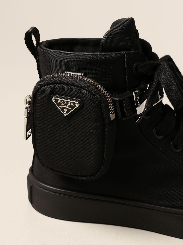 Sneakers Prada: Sneakers a polacco Prada in gabardine Re-Nylon nero 4