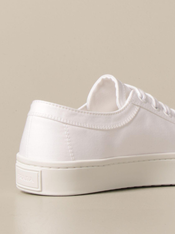 Sneakers Prada: Sneakers Prada in tela con logo triangolare bianco 3