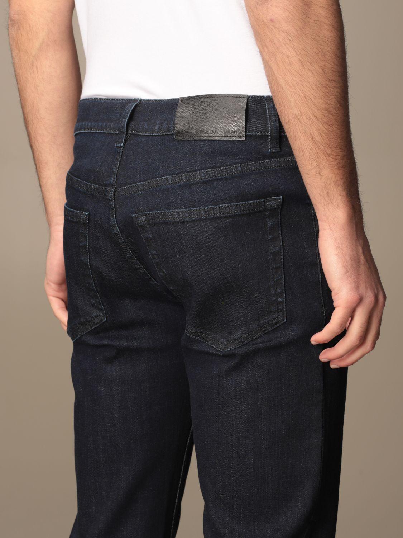 Jeans Prada: Jeans Prada a 5 tasche in denim di cotone blue 4