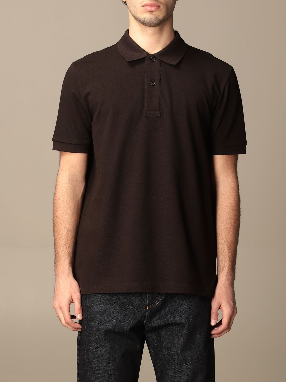 T-shirt Bottega Veneta: Bottega Veneta basic cotton polo shirt brown 1