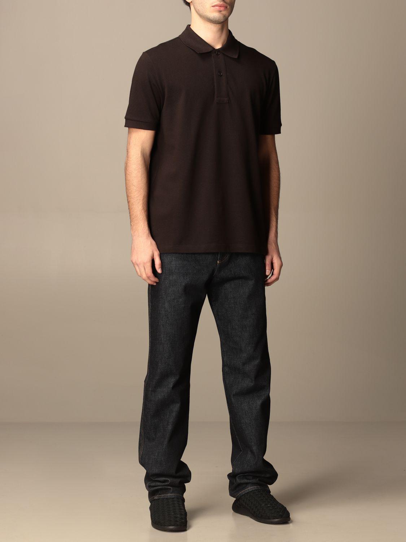 T-shirt Bottega Veneta: Bottega Veneta basic cotton polo shirt brown 2
