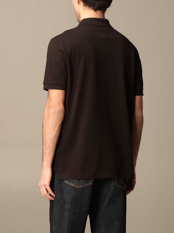T-shirt Bottega Veneta: Bottega Veneta basic cotton polo shirt brown 3