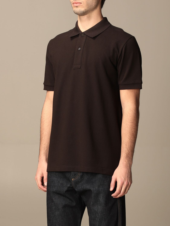 T-shirt Bottega Veneta: Bottega Veneta basic cotton polo shirt brown 4