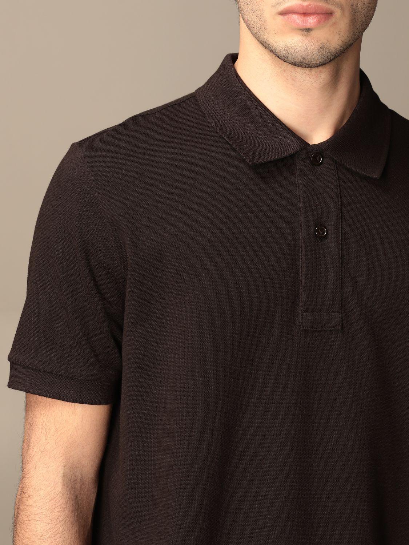 T-shirt Bottega Veneta: Bottega Veneta basic cotton polo shirt brown 5