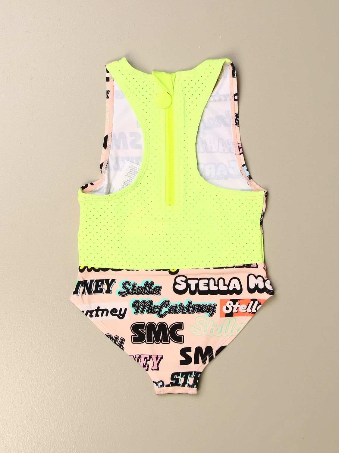 Swimsuit Stella Mccartney: Stella McCartney one-piece swimsuit with all over logo pink 2