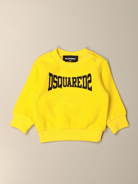 Maglia Dsquared2 Junior: Felpa Dsquared2 Junior in cotone con logo giallo 1