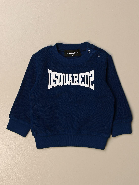 Maglia Dsquared2 Junior: Felpa Dsquared2 Junior in cotone con logo blue 1