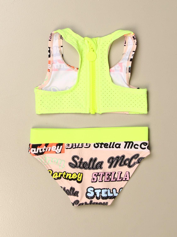 Swimsuit Stella Mccartney: Stella McCartney bikini swimsuit with all over logo pink 2