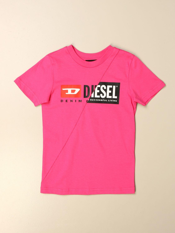 Camisetas Diesel: Camisetas niños Diesel fucsia 1