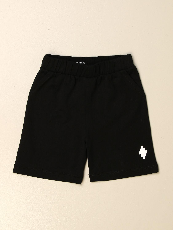 Pantaloncini Marcelo Burlon: Pantaloncino jogging Marcelo Burlon con logo nero 1