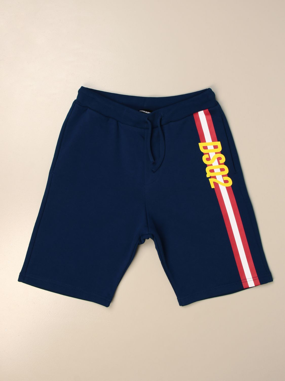 Pantaloncino Dsquared2 Junior: Pantaloncino jogging Dsquared2 Junior con banda e logo royal 1