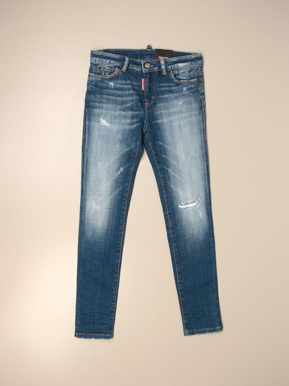 Jeans Dsquared2 Junior: Dsquared2 Junior jeans in used denim blue 1