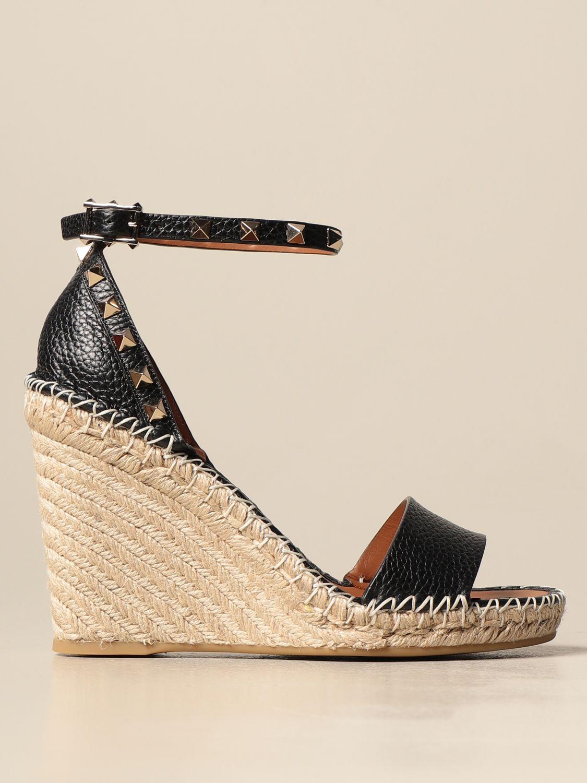 Sandalen mit Absatz Valentino Garavani: Sandalen mit absatz damen Valentino Garavani schwarz 1