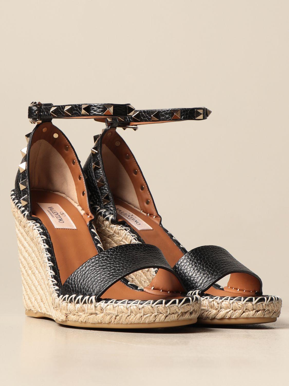 Sandalen mit Absatz Valentino Garavani: Sandalen mit absatz damen Valentino Garavani schwarz 2