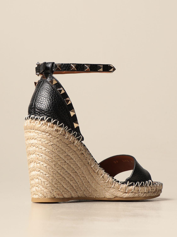 Sandalen mit Absatz Valentino Garavani: Sandalen mit absatz damen Valentino Garavani schwarz 3