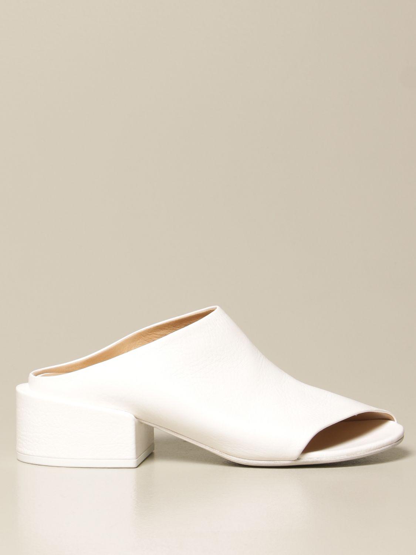 Sandalen mit Absatz Marsell: Flache sandalen damen Marsell weiß 1