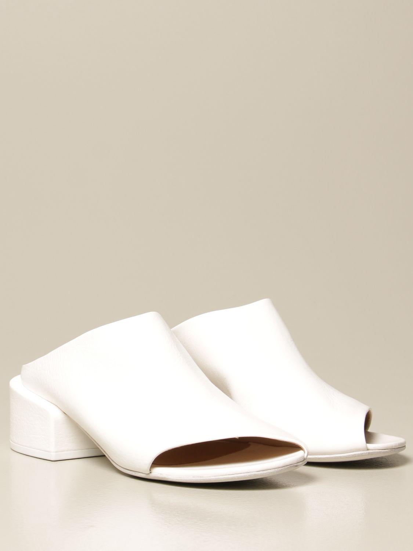 Sandalen mit Absatz Marsell: Flache sandalen damen Marsell weiß 2
