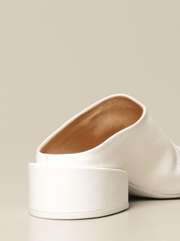 Sandalen mit Absatz Marsell: Flache sandalen damen Marsell weiß 3