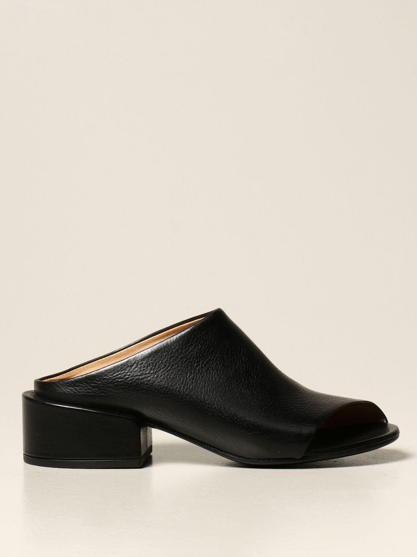 Sandalen mit Absatz Marsell: Flache sandalen damen Marsell schwarz 1