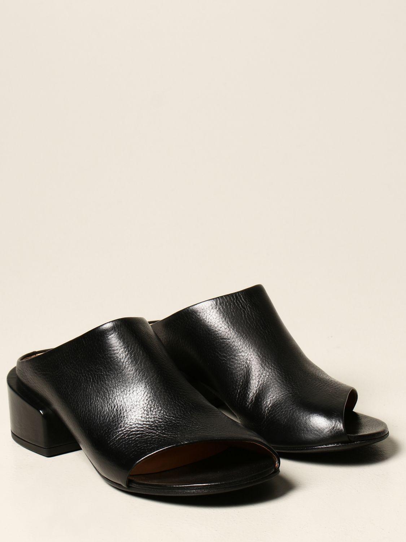 Sandalen mit Absatz Marsell: Flache sandalen damen Marsell schwarz 2